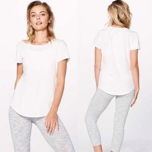 Lululemon Love Crew Tee White T-Shirt Short Sleeve